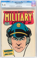 Golden Age (1938-1955):War, Military Comics #38 Mile High pedigree (Quality, 1945) CGC NM 9.4 Off-white to white pages....