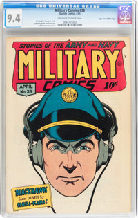 Military Comics #38 Mile High pedigree (Quality, 1945) CGC NM 9.4 Off-white to white pages