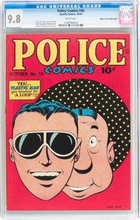 Police Comics #35 Mile High pedigree (Quality, 1944) CGC NM/MT 9.8 White pages