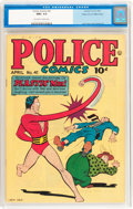 Golden Age (1938-1955):Science Fiction, Police Comics #41 Mile High pedigree (Quality, 1945) CGC NM+ 9.6Off-white to white pages....