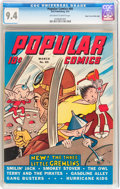 Golden Age (1938-1955):Cartoon Character, Popular Comics #85 Mile High pedigree (Dell, 1943) CGC NM 9.4 Off-white to white pages....