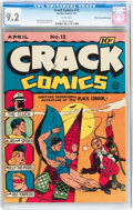 Golden Age (1938-1955):Superhero, Crack Comics #12 Mile High pedigree (Quality, 1941) CGC NM- 9.2 White pages....