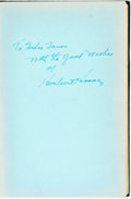Books:Biography & Memoir, Herbert Hoover. INSCRIBED. The Memoirs of Herbert Hoover. TheGreat Depression 1929-1941. New York: Macmillan, 1952....