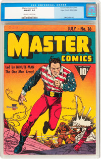 Master Comics #16 Mile High pedigree (Fawcett Publications, 1941) CGC NM/MT 9.8 Off-white to white pages