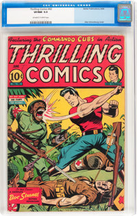 Thrilling Comics #42 (Better Publications, 1944) CGC VF/NM 9.0 Off-white to white pages