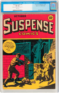 Suspense Comics #6 Mile High pedigree (Continental Magazines, 1944) CGC VF 8.0 White pages