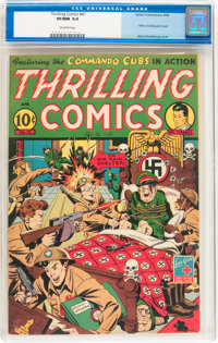 Thrilling Comics #41 (Better Publications, 1944) CGC VF/NM 9.0 Off-white pages
