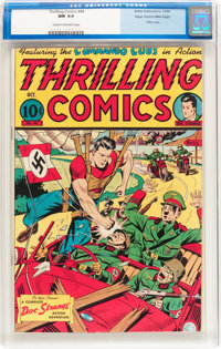 Thrilling Comics #44 Mile High pedigree (Better Publications, 1944) CGC NM 9.4 Cream to off-white pages