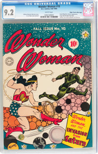 Wonder Woman #10 Mile High pedigree (DC, 1944) CGC NM- 9.2 White pages