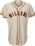 Baseball Collectibles:Uniforms, 1951 Willie Mays Game Worn Minneapolis Millers Jersey with Photo Match!...