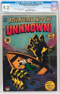 Adventures Into The Unknown #6 Mile High pedigree (ACG, 1949) CGC NM- 9.2 Off-white to white pages