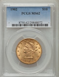 Liberty Eagles: , 1902 $10 MS62 PCGS. PCGS Population (193/123). NGC Census: (227/84). Mintage: 82,400. Numismedia Wsl. Price for problem fre...