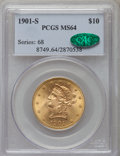 Liberty Eagles: , 1901-S $10 MS64 PCGS. CAC. PCGS Population (3620/1167). NGC Census: (3894/1495). Mintage: 2,812,750. Numismedia Wsl. Price ...