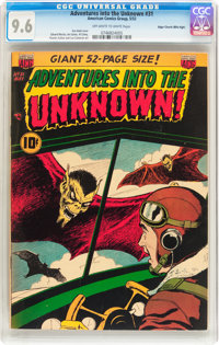 Adventures Into The Unknown #31 Mile High pedigree (ACG, 1952) CGC NM+ 9.6 Off-white to white pages