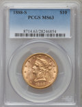 Liberty Eagles: , 1888-S $10 MS63 PCGS. PCGS Population (141/3). NGC Census: (78/4).Mintage: 648,700. Numismedia Wsl. Price for problem free...