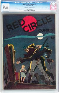 Red Circle Comics #3 Mile High pedigree (Rural Home, 1945) CGC NM+ 9.6 Off-white to white pages