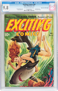 Exciting Comics #60 Mile High pedigree (Nedor, 1948) CGC NM/MT 9.8 Off-white to white pages