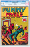 Golden Age (1938-1955):Superhero, Funny Pages V3#10 Mile High pedigree (Centaur, 1939) CGC VF+ 8.5 White pages....
