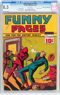 Funny Pages V3#10 Mile High pedigree (Centaur, 1939) CGC VF+ 8.5 White pages