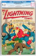 Golden Age (1938-1955):Superhero, Lightning Comics V2#4 Mile High pedigree (Ace, 1941) CGC NM- 9.2 Off-white to white pages....