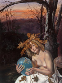 DAVID M. BOWERS (American, 20th Century) Mother Nature, 2006 Oil on linen 16 x 12 in. Signed l