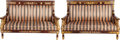 Furniture , A PAIR OF EMPIRE-STYLE MAHOGANY AND GILT BRONZE MOUNTED SETTEES,. 46 x 69-1/2 x 29 inches (116.8 x 176.5 x 73.7 cm) (each). ... (Total: 2 Items)