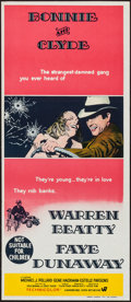 "Movie Posters:Crime, Bonnie and Clyde (Warner Brothers-Seven Arts, 1967). AustralianDaybill (13"" X 29.75""). Crime.. ..."