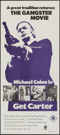 """Movie Posters:Crime, Get Carter (MGM, 1971). Australian Daybill (13.25"""" X 29.75"""").Crime.. ..."""