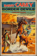 "Movie Posters:Western, Border Devils (Artclass Pictures, 1932). One Sheet (27"" X 41"").Western.. ..."