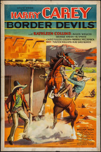 "Border Devils (Artclass Pictures, 1932). One Sheet (27"" X 41""). Western"