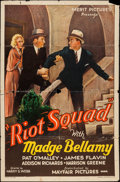 """Movie Posters:Crime, Riot Squad (Mayfair Pictures, 1933). One Sheet (27"""" X 41""""). Crime....."""