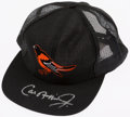 Baseball Collectibles:Hats, Cal Ripken Jr. Signed Baltimore Orioles Cap....