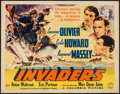 "Movie Posters:War, The Invaders (Columbia, 1941). Trimmed Half Sheet (21.5"" X 27.5"")Style A. War.. ..."