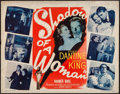 "Movie Posters:Thriller, Shadow of a Woman (Warner Brothers, 1946). Half Sheet (22"" X 28""). Thriller.. ..."