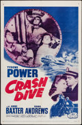 """Movie Posters:War, Crash Dive & Other Lot (20th Century Fox, R-1956). One Sheets(2) (27"""" X 41""""). War.. ... (Total: 2 Items)"""