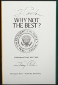 Miscellaneous Collectibles:General, Jimmy Carter Signed Lot of 2....