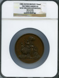Expositions and Fairs, 1886 New Orleans Exposition, The Three Americas, MS63 Brown NGC.Bronze, 74 mm....