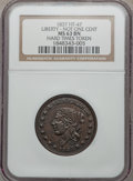 Hard Times Tokens, 1837 Liberty, Not One Cent, MS63 Brown NGC. Low-32, HT-47....