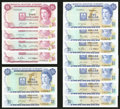 Bermuda Monetary Authority 1 Dollar [9], 5 Dollars [4] Multiple Dates with Replacements Pick 28, 29