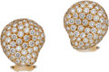 Estate Jewelry:Earrings, Elsa Peretti for Tiffany & Co. Diamond, Gold Earrings. ...