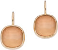 Estate Jewelry:Earrings, Pomellato Rose Quartz, Gold Earrings. ...