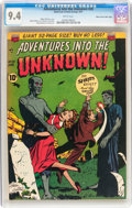Golden Age (1938-1955):Horror, Adventures Into The Unknown #20 Mile High pedigree (ACG, 1951) CGCNM 9.4 White pages....