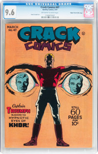 Crack Comics #47 Mile High pedigree (Quality, 1947) CGC NM+ 9.6 Off-white to white pages
