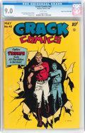 Golden Age (1938-1955):Superhero, Crack Comics #42 Mile High pedigree (Quality, 1946) CGC VF/NM 9.0 White pages....