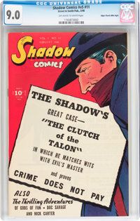 Shadow Comics V5#11 Mile High pedigree (Street & Smith, 1946) CGC VF/NM 9.0 Off-white to white pages