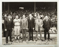 Autographs:Photos, 1931 Babe Ruth, Connie Mack & John McGraw Signed Photograph....