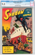 Golden Age (1938-1955):Superhero, Shadow Comics V8#12 Mile High pedigree (Street & Smith, 1949) CGC VF/NM 9.0 Off-white to white pages....
