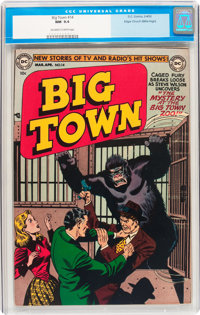 Big Town #14 Mile High pedigree (DC, 1952) CGC NM 9.4 Off-white to white pages