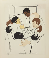 JACOB LAWRENCE (American, 1917-2000) Brotherhood of Peace, 1967 Lithograph in colors 24 x 19-7/8