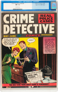 Crime Detective Comics #2 Mile High pedigree (Hillman Fall, 1948) CGC NM- 9.2 Off-white pages